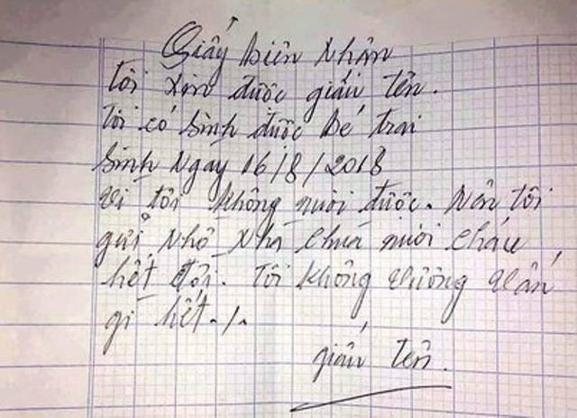 """Bé trai kháu khỉnh bị bỏ tại chùa với lời nhắn """"xin nuôi cháu hết đời"""" - 2"""