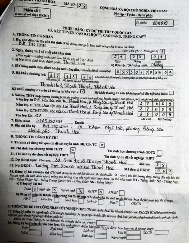 Nữ sinh bị nhập nhầm nguyện vọng đã nhập học Trường ĐH Quốc tế - ĐH Quốc gia TPHCM - 1