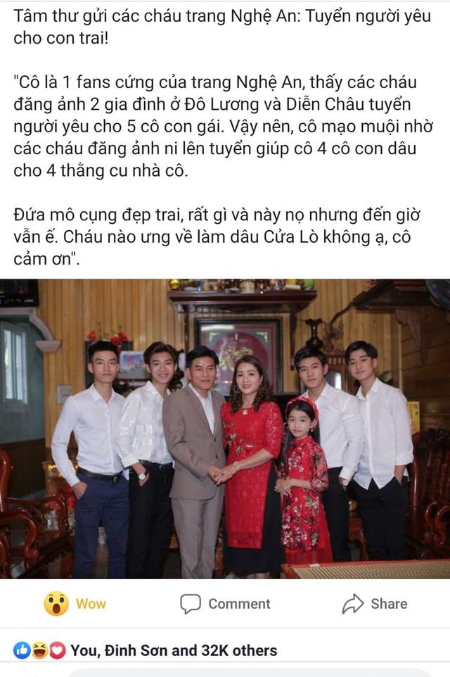 Người mẹ đăng đàn tuyển dâu cho 4 con trai: 3 du học sinh, 1 sĩ quan hải quân - 2
