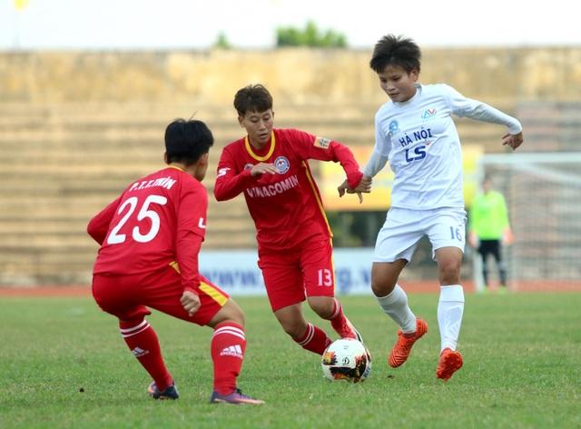 Đội nữ Hà Nội gia nhập nhóm 3 đội dẫn đầu giải bóng đá nữ vô địch quốc gia - 1