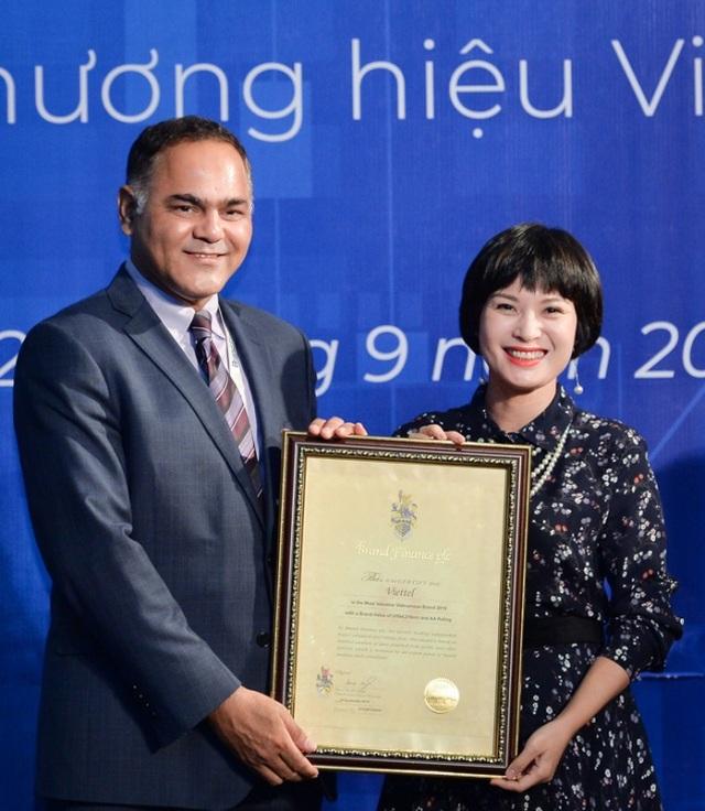 Được định giá hơn 4,3 tỷ USD, Viettel  liên tiếp hai năm dẫn đầu Top 10 thương hiệu giá trị nhất Việt Nam - 2