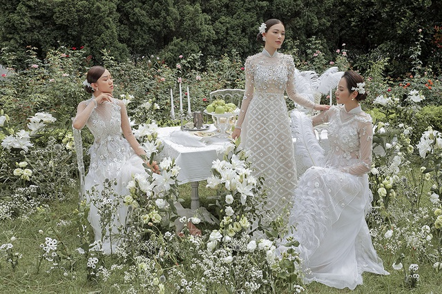 Vừa công khai yêu em chồng Hà Tăng, Linh Rin đã bất ngờ mặc áo dài cưới - 17
