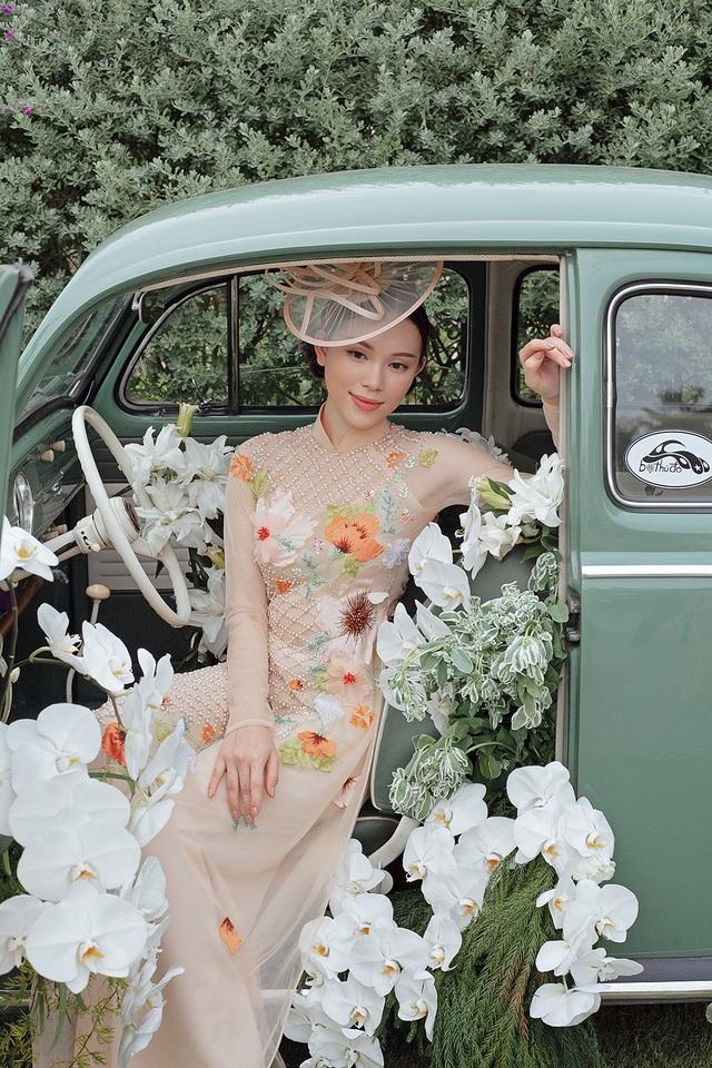 Vừa công khai yêu em chồng Hà Tăng, Linh Rin đã bất ngờ mặc áo dài cưới - 13