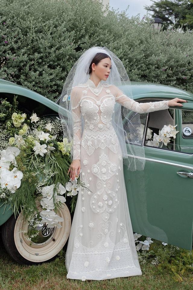 Vừa công khai yêu em chồng Hà Tăng, Linh Rin đã bất ngờ mặc áo dài cưới - 9