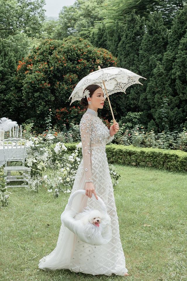 Vừa công khai yêu em chồng Hà Tăng, Linh Rin đã bất ngờ mặc áo dài cưới - 8