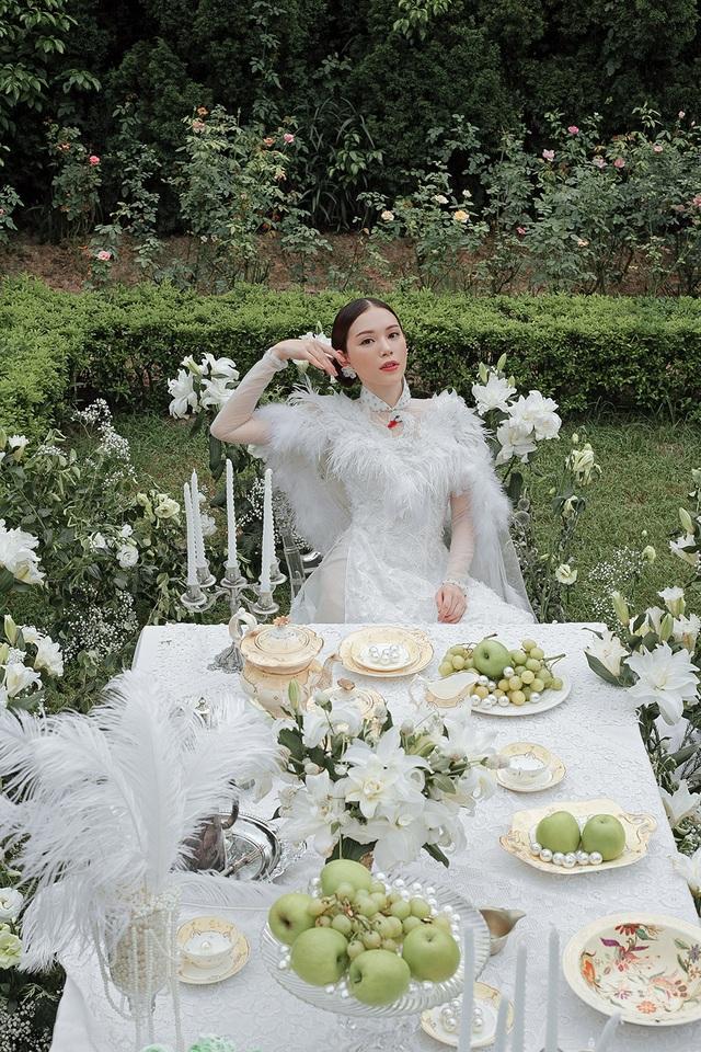 Vừa công khai yêu em chồng Hà Tăng, Linh Rin đã bất ngờ mặc áo dài cưới - 11