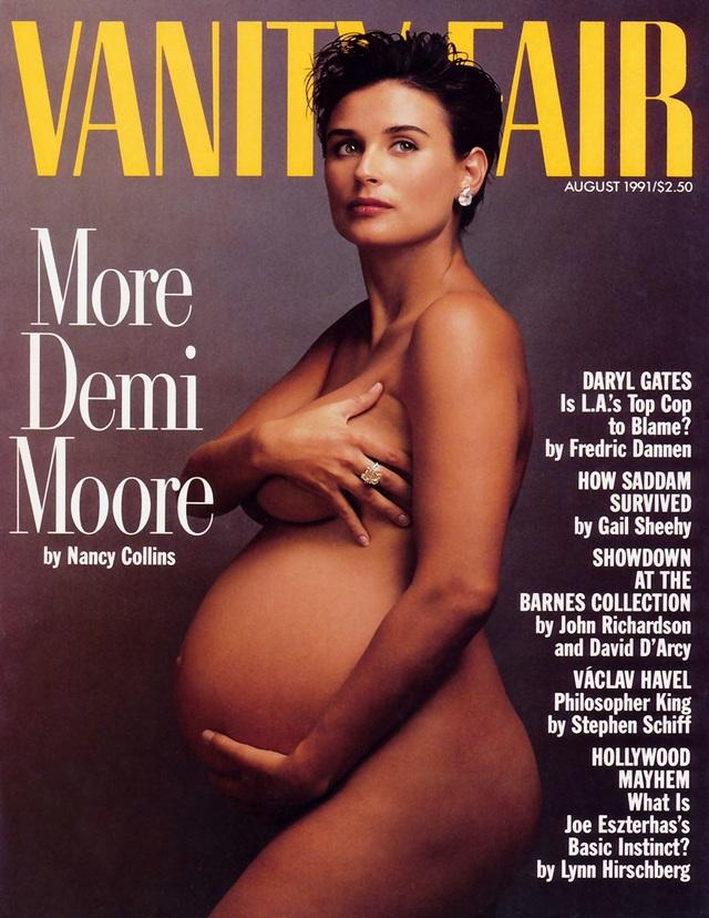 """Demi Moore nói về bức ảnh """"bà bầu khỏa thân"""" trên trang bìa Vanity Fair - 2"""