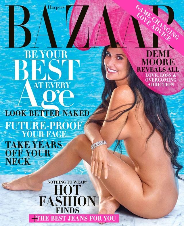 """Demi Moore nói về bức ảnh """"bà bầu khỏa thân"""" trên trang bìa Vanity Fair - 3"""