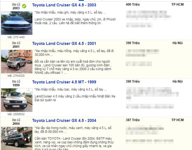 Xế sang Land Cruiser và BMW đời cũ về giá dưới 400 triệu đồng như xe cỏ - 1