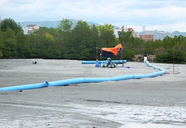 """Bình Định """"tuýt còi"""" dự án Thị Nại Eco Bay hút cát chưa phép - 3"""