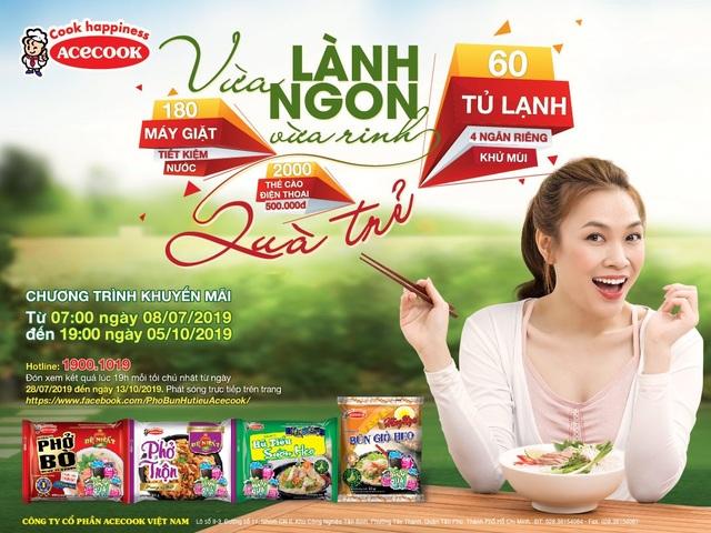 Cơ hội cuối trúng tủ lạnh, máy giặt khi ăn phở, bún, hủ tiếu Acecook Việt Nam - 3