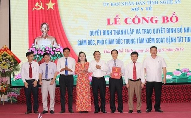 Thành lập trung tâm kiểm soát bệnh tật tỉnh Nghệ An - 1