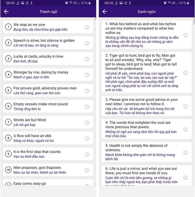 Ứng dụng hữu ích giúp nâng cao ngữ pháp và học các câu thành ngữ bằng Tiếng Anh - 4