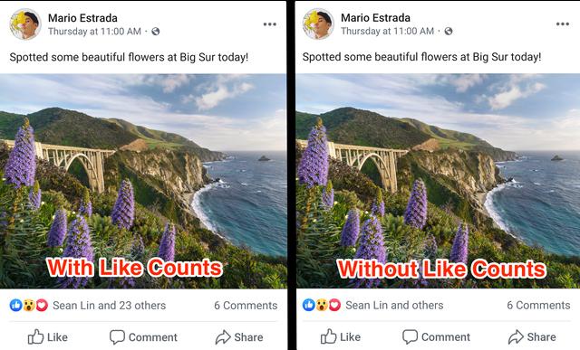 Facebook bắt đầu ngừng hiện số lượng Like, người dùng chán nản - 1