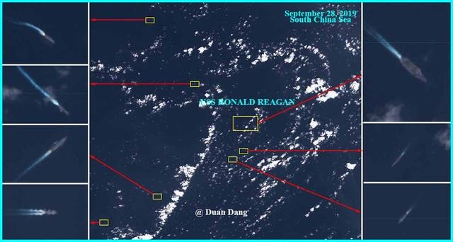 """Tàu sân bay Mỹ nghi bị 7 tàu Trung Quốc """"vây"""" trên Biển Đông  - 1"""