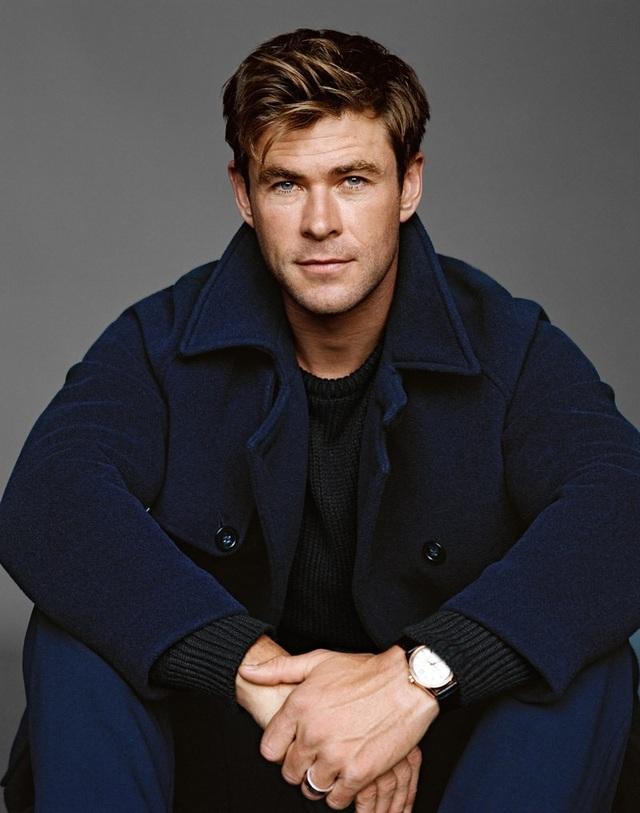 Đứng thứ 74 - Nam diễn viên người Úc được biết tới nhiều nhất với vai Thần Sấm Thor trên màn ảnh rộng - Chris Hemsworth (35 tuổi) cũng góp mặt trong danh sách.