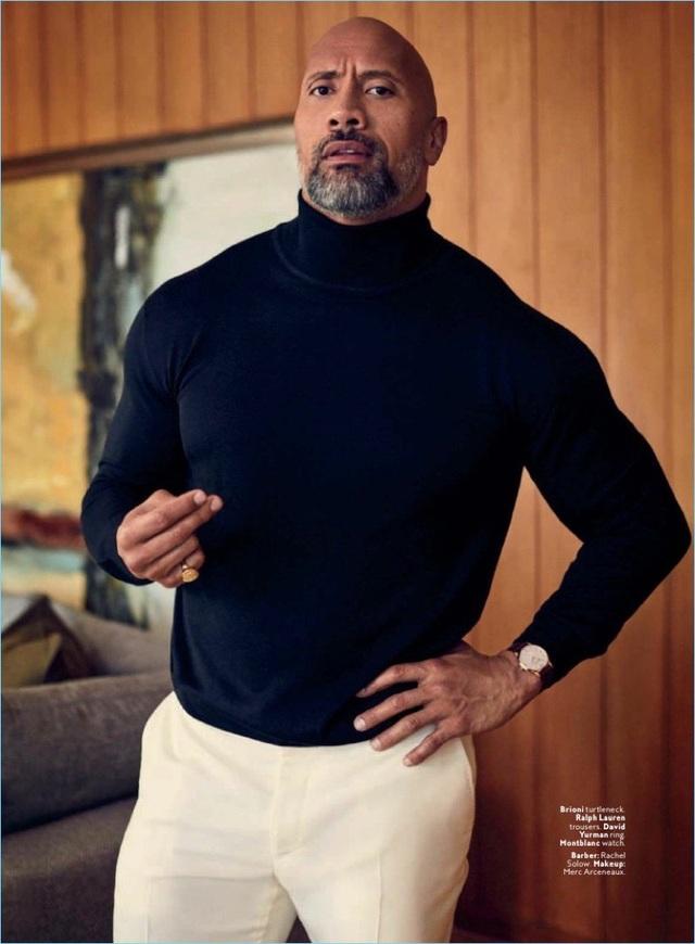 Đứng thứ 81 - Nam diễn viên cơ bắp đá tảng (biệt danh The Rock) - Dwayne Johnson không thể thiếu khỏi danh sách những người đàn ông đẹp trai nhất, dù thực sự thế mạnh của anh nằm ở thể hình hơn là đường nét gương mặt.