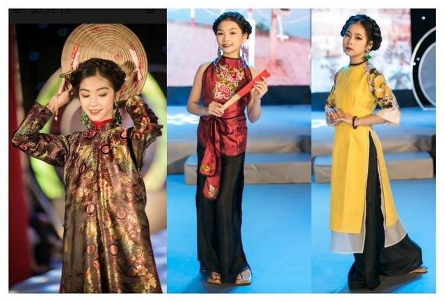 Dàn mẫu nhí trong những mẫu thiết kế đậm chất cổ truyền của Vân Trần.