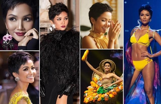 Năm 2018 được xem là một năm cực kỳ thành công của Hoa hậu Hoàn vũ Việt Nam H'hen Niê.