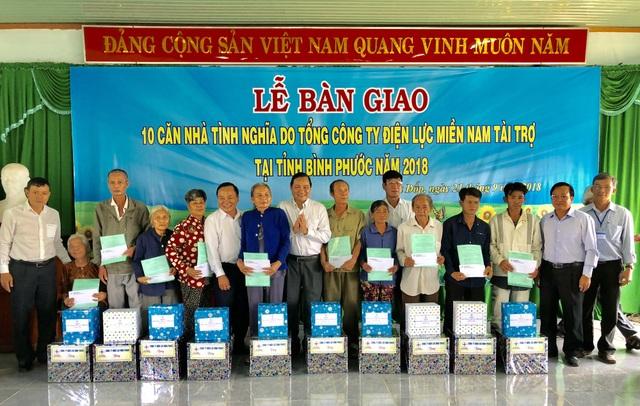 Chương trình giao nhà tình nghĩa do tổng công ty điện Miền Nam tài trợ tại tỉnh Bình Phước năm 2018