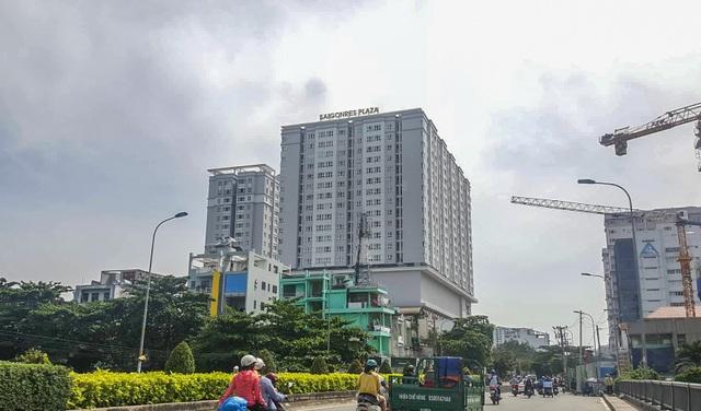 Chung cư Saigonres Plaza nằm trên đường Nguyễn Xí, phường 26, quận Bình Thạnh, TP.HCM. Ảnh: V.D