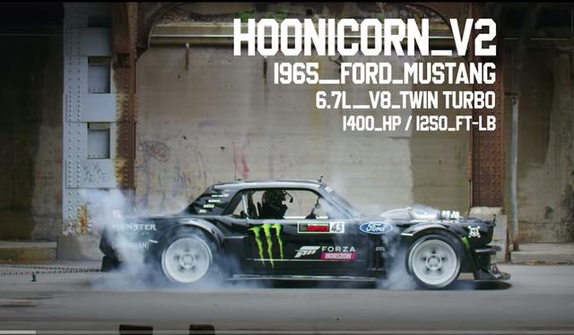 HooniCorn V2 Ford Mustang phiên bản 1965 dùng động cơ V8 6.7L Twin turbo sức mạnh 1.400 mã lực/1.690 Nm.