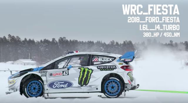 Ford Fiesta WRC phiên bản 2018 dùng động cơ I4 1.6L turbo sức mạnh 380 mã lực/450 Nm