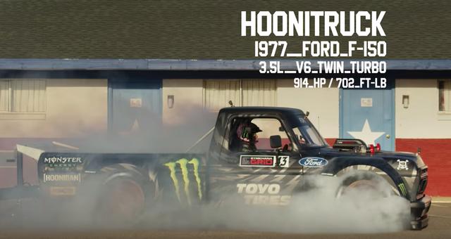 HooniTruck Ford F150 phiên bản 1977 dùng động cơ V6 3.5L Twin Turbo sức mạnh 914 mã lực/518 Nm.