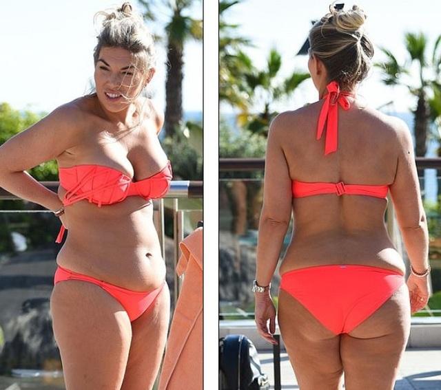 Frankie Essex vẫn tự tin diện bikini dù dáng không thon gọn - Ảnh 1.