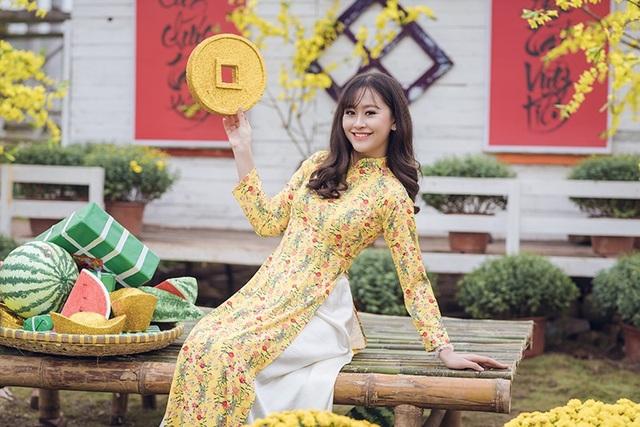 Tân hoa khôi Imiss Thăng Long khoe sắc trong bộ ảnh đón Xuân sớm - Ảnh 4.