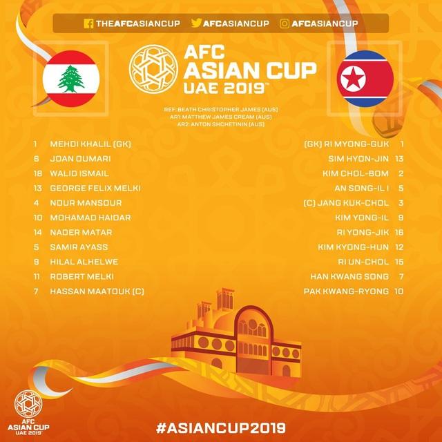 Lebanon thắng Triều Tiên 4-1, Việt Nam vào vòng 1/8 đầy nghẹt thở - Ảnh 17.