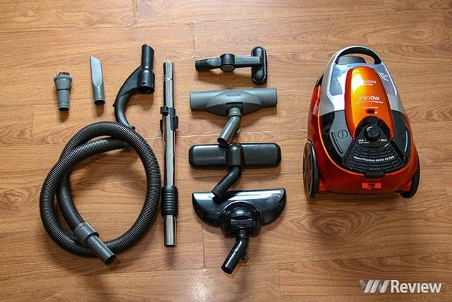 Máy hút bụi Hitachi CV-SE230V: Hút cả bình nước 20 lít, giàu phụ kiện - Ảnh 2.
