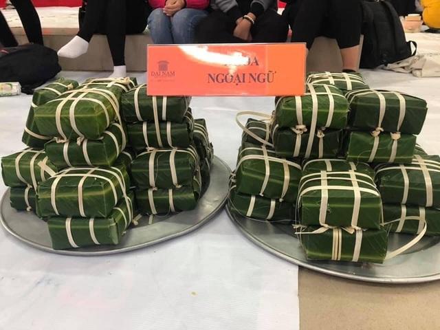 Sinh viên gói hơn 1.000 chiếc bánh chưng dành tặng những hoàn cảnh khó khăn  - Ảnh 2.