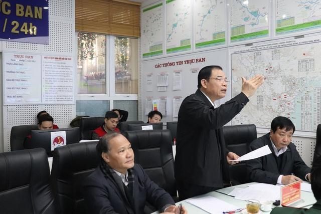 Bộ trưởng Nguyễn Xuân Cường phát biểu chỉ đạo tại cuộc họp.