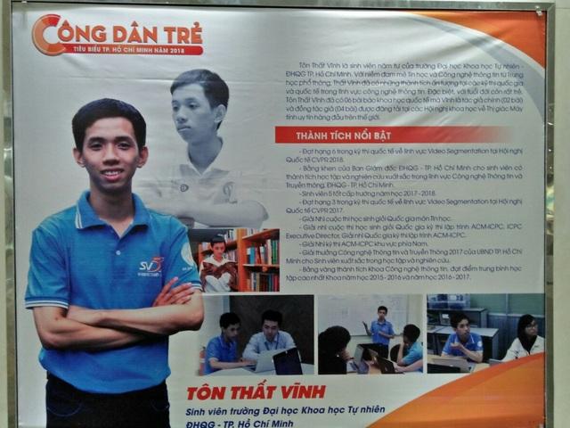 Sinh viên Tôn Thất Vĩnh - chàng trai của nhiều nghiên cứu khoa học và các bài báo quốc tế