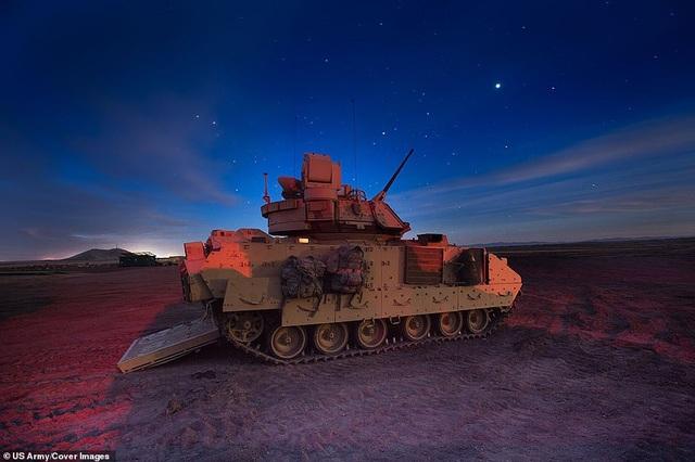 Xe chiến đấu bộ binh M2A3 Bradley được triển khai tại trung tâm huấn luyện tác chiến Orchard, bang Idaho, Mỹ hồi tháng 3.