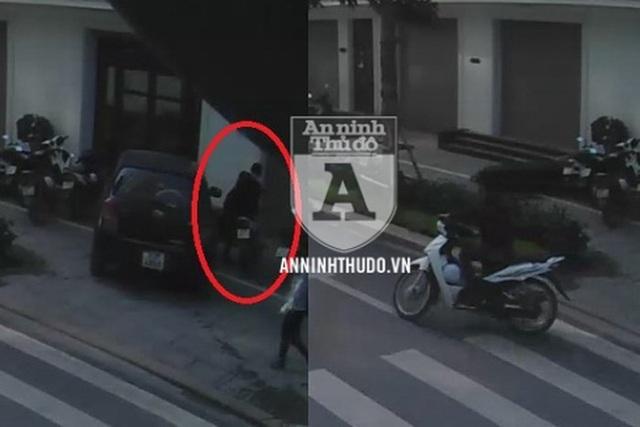 Một vụ trộm xe máy do đối tượng Thọ thực hiện được camera ghi lại