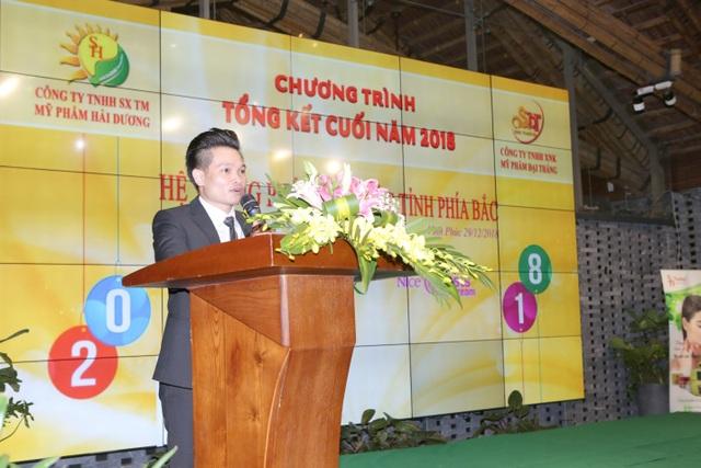 Ông Nguyễn Viết Thắng – Tổng giám đốc công ty Đại Thắng phát biểu tri ân
