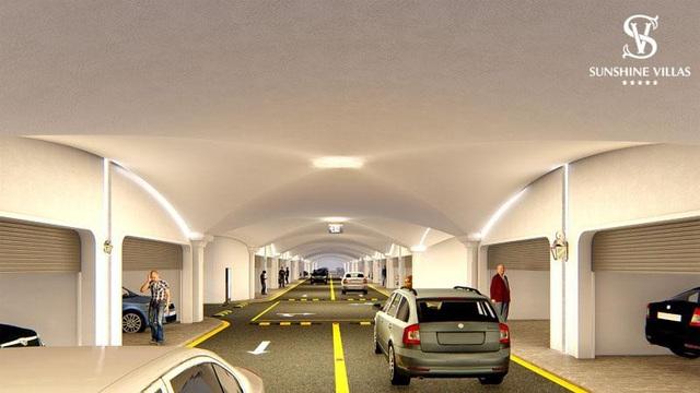 Hệ thống giao thông ngầm hiện đại là một trong những ưu thế vượt trội của dãy nhà phố thương mại Sunshine Wonder Villas.