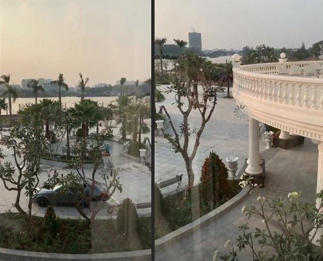 Biệt thự 3 tầng nhìn ra sông nước, khoảng sân vườn rộng không khác gì khách sạn nghỉ dưỡng.