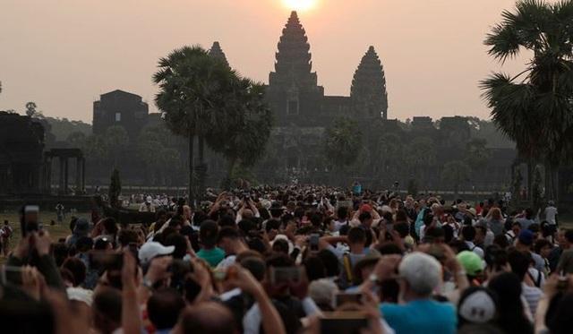 Quang cảnh quần thể đền Angkor Wat của Campuchia. (Ảnh: SCMP)