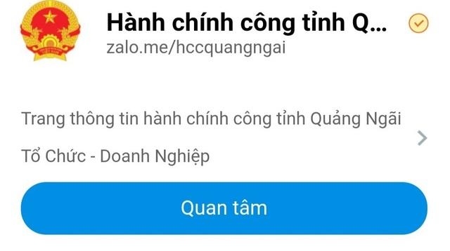 UBND tỉnh Quảng Ngãi đã chính thức triển khai hoạt động giải quyết thủ tục hành chính cho người dân thông qua ứng dụng Zalo, tin nhắn SMS