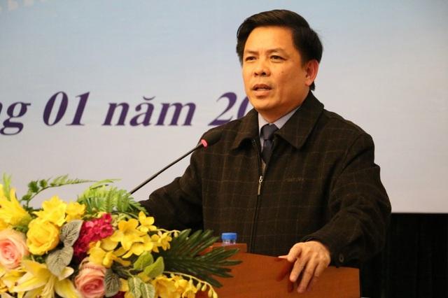 Bộ trưởng GTVT Nguyễn Văn Thể tại Hội nghị chiều 3/1