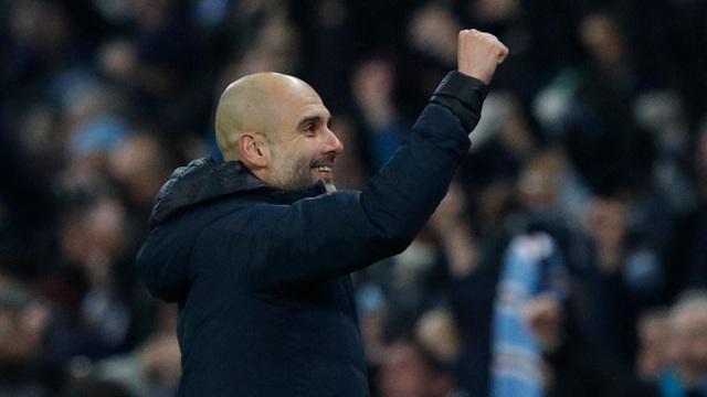 Guardiola vui mừng với chiến thắng quan trọng, chiến thắng này giúp hi vọng bảo vệ danh hiệu vô địch Premier League của Man City hồi sinh mạnh mẽ