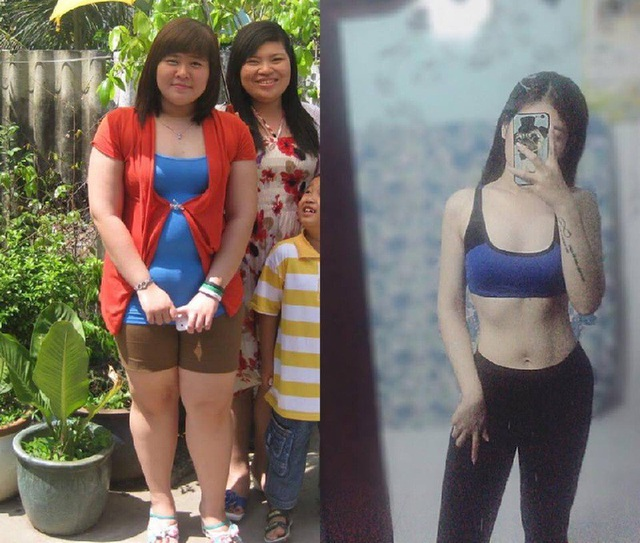 Hình ảnh Minh Diệu trước và sau khi giảm cân