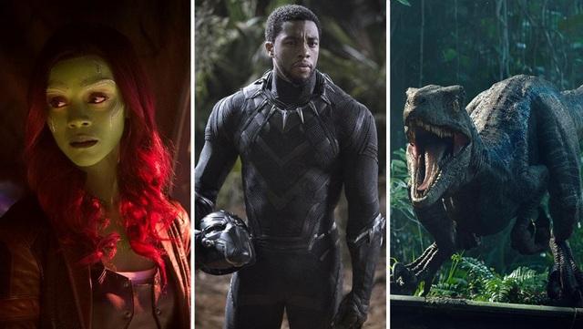 Avenger: Infinity War, Black Panther và Jurrasic World nằm trong top đầu doanh thu phòng vé 2018.