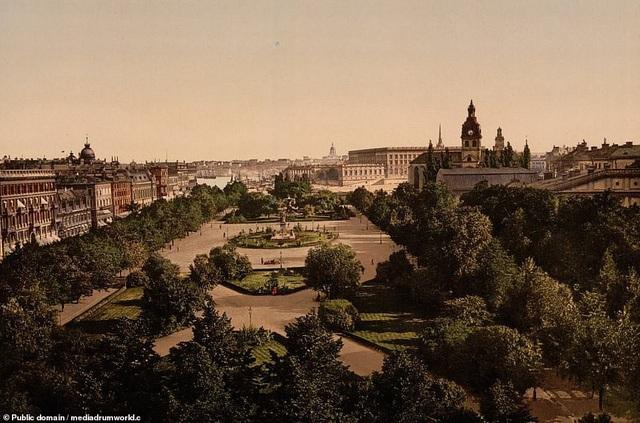 Công viên Kungstradgarden ở Stockholm, Thụy Điển.