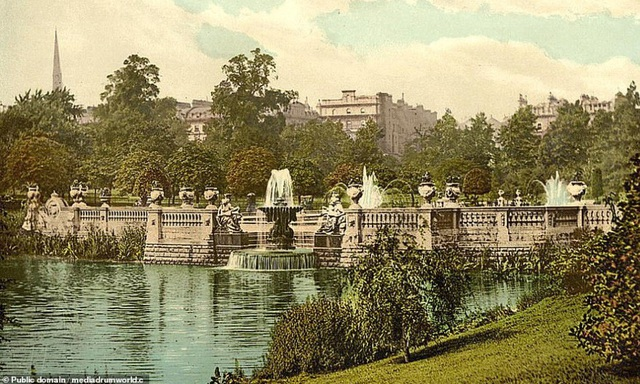 Vườn Kensington ở London, Anh.