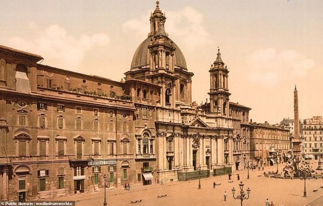 Quảng trường Piazza Navona ở Rome, Ý.