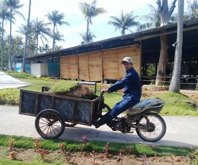 Anh Đặng Văn Bình được người quen giới thiệu vào làm cho bộ phận cây xanh tại Sun World Hon Thom Nature Park
